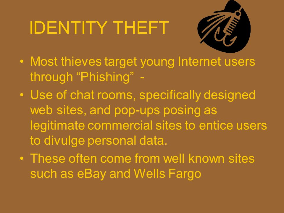 IDENTITY THEFT Most thieves target young Internet users through Phishing -