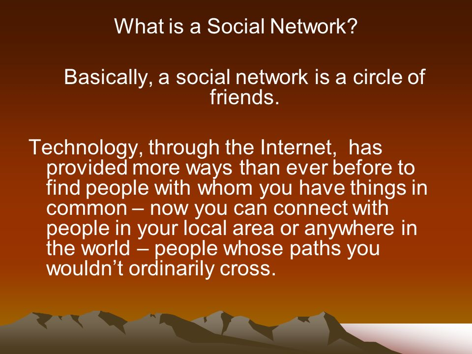 What is a Social Network