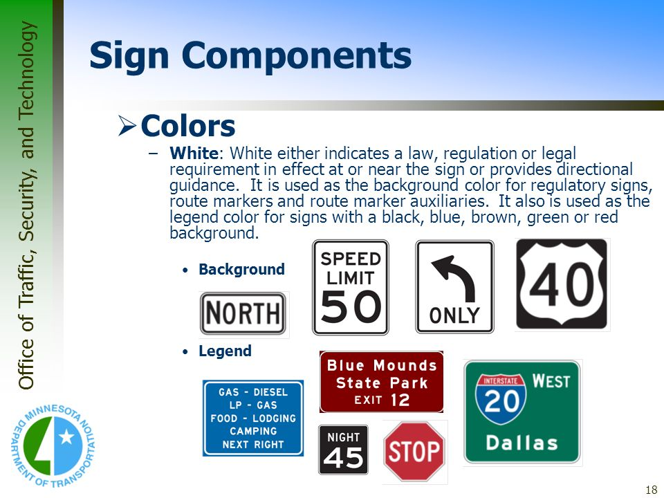 Sign Components Colors