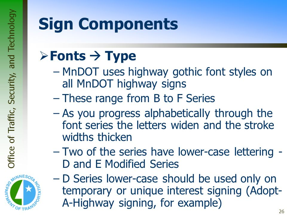 Sign Components Fonts  Type
