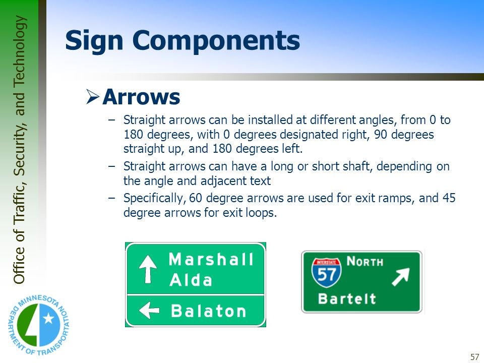 Sign Components Arrows