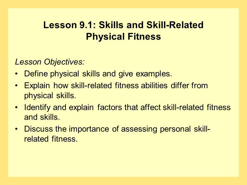 chapter 9 active sports and skill related physical fitness ppt