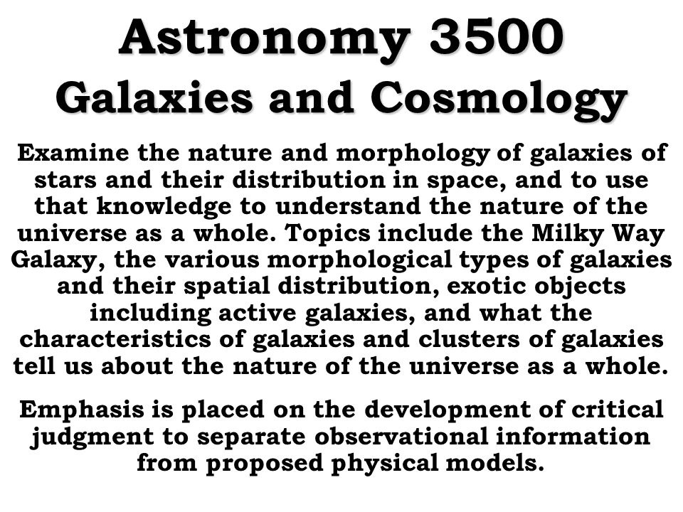 Astronomy 3500 Galaxies And Cosmology Ppt Download. Astronomy 3500 Galaxies And Cosmology. Worksheet. Astronomy Belt Loop Worksheet At Clickcart.co