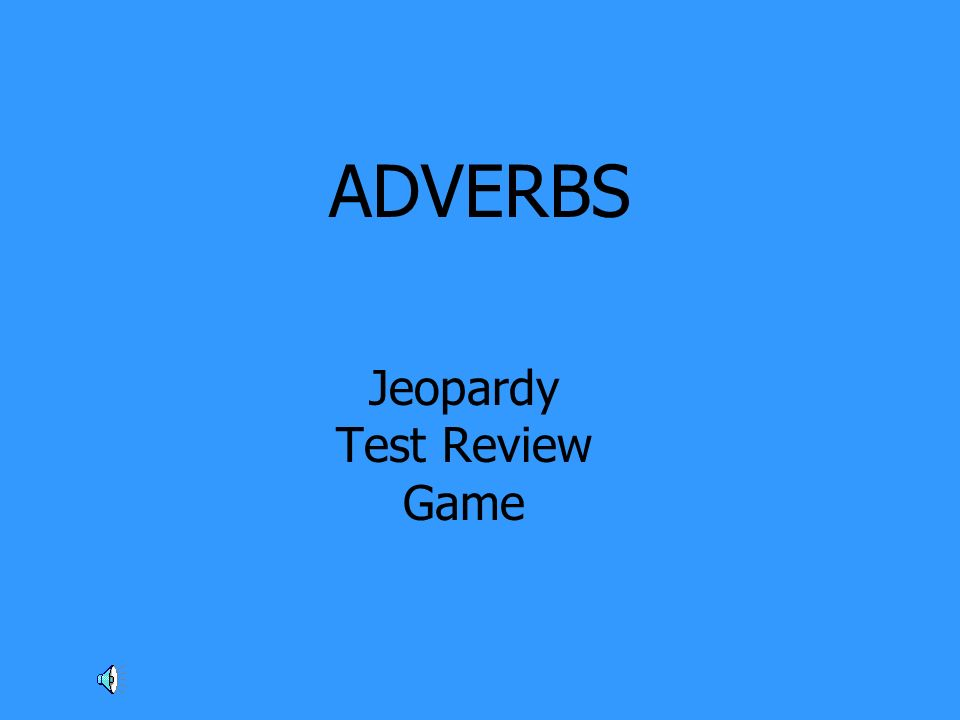Jeopardy Test Review Game