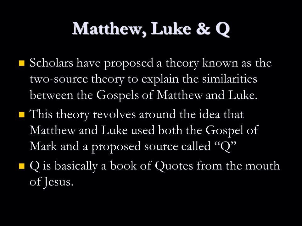 similarities between matthew and mark