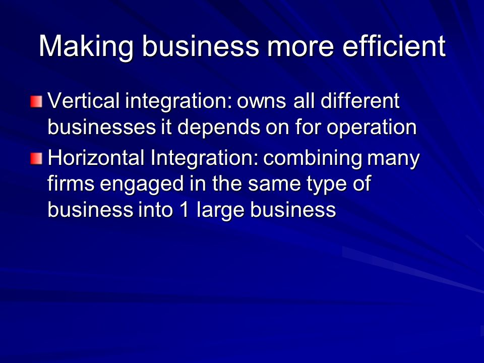 Making business more efficient