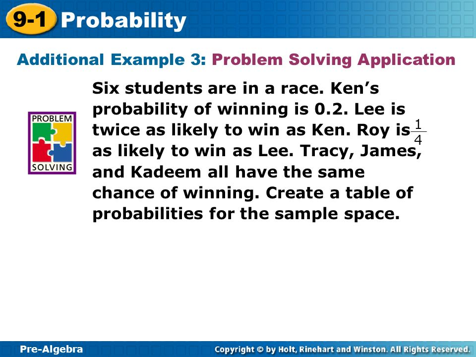 Additional Example 3: Problem Solving Application