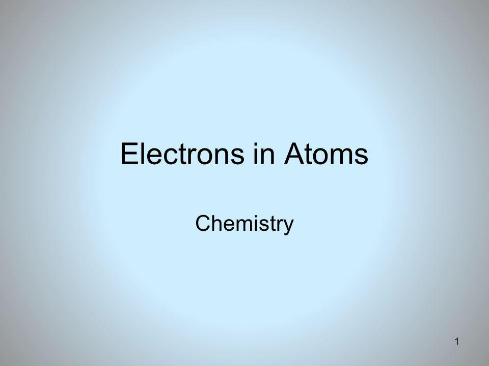 Electrons in Atoms Chemistry