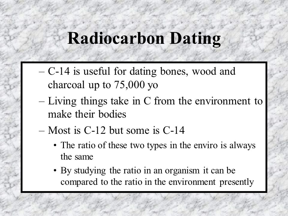 radiocarbon dating would be useful in dating the age of earth