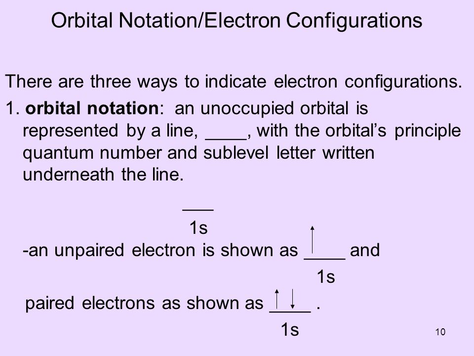 Orbital Notation/Electron Configurations
