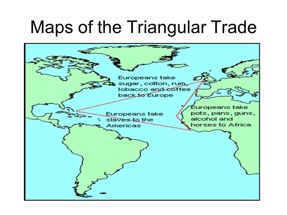Maps of the Triangular Trade