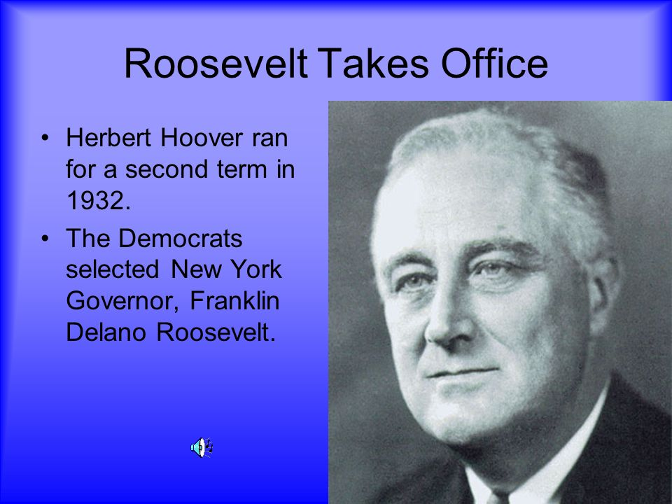 Roosevelt Takes Office