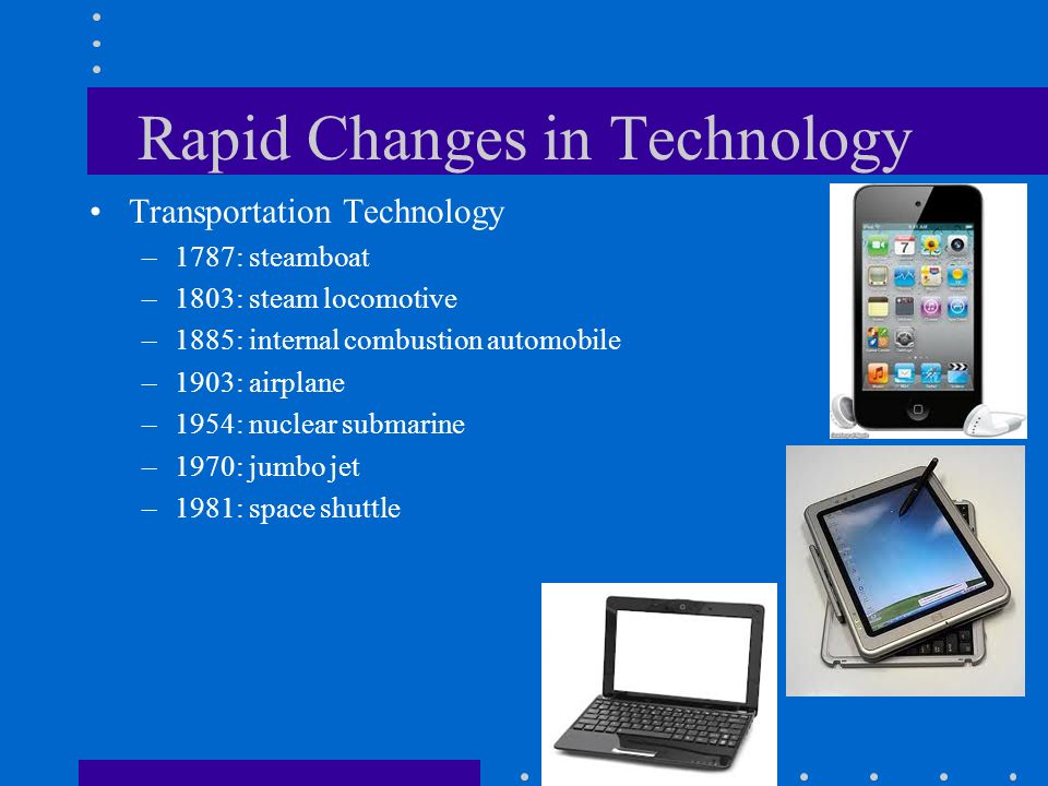 Rapid Changes in Technology
