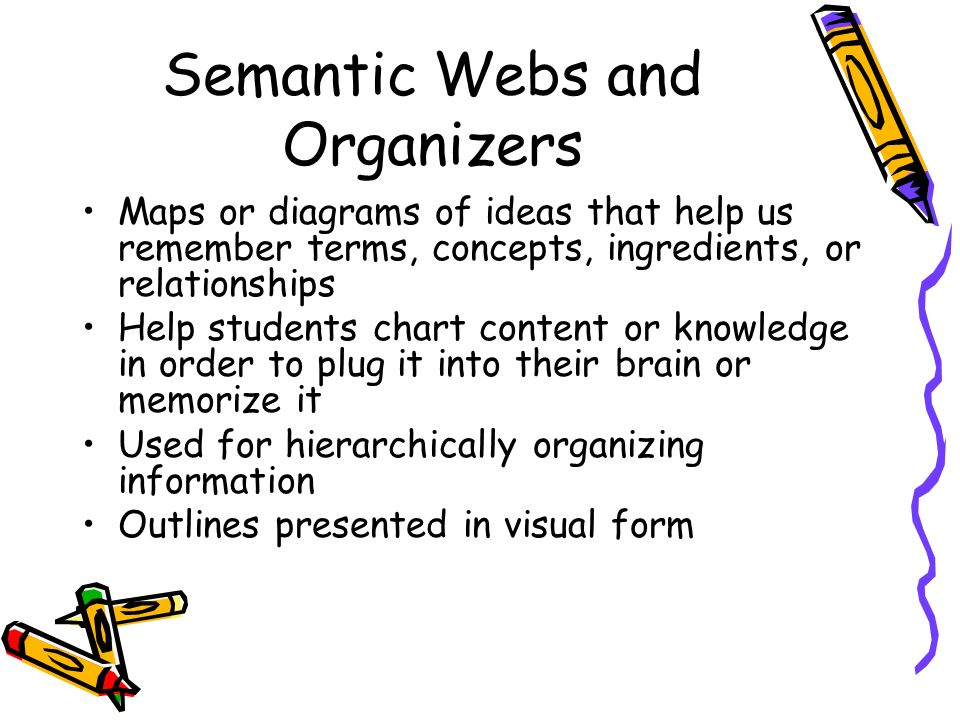 Semantic Webs and Organizers