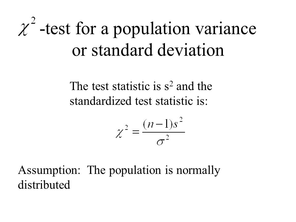 Hypothesis Testing for Variance and Standard Deviation - ppt video
