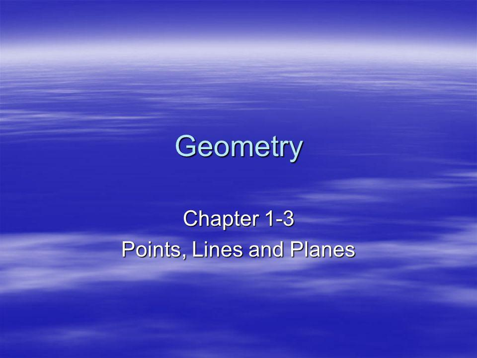 Chapter 1-3 Points, Lines and Planes