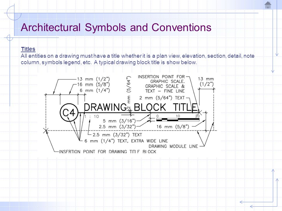 Architectural drawing ppt video online download architectural symbols and conventions malvernweather Choice Image