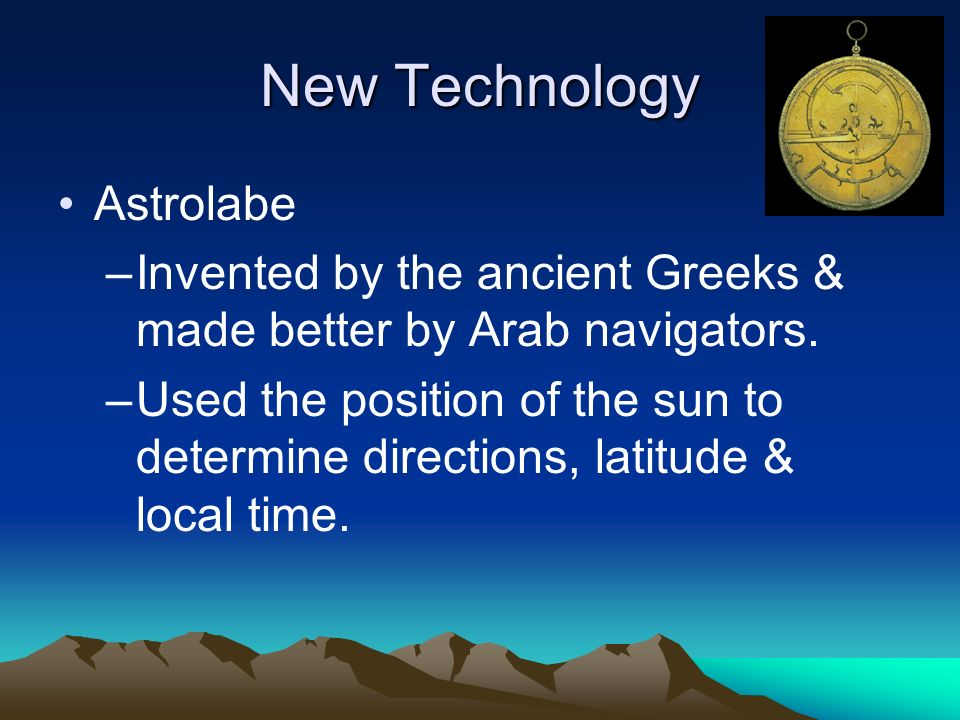 New Technology Astrolabe