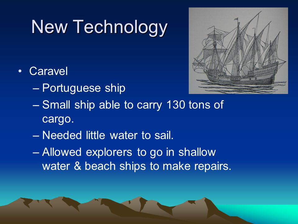 New Technology Caravel Portuguese ship