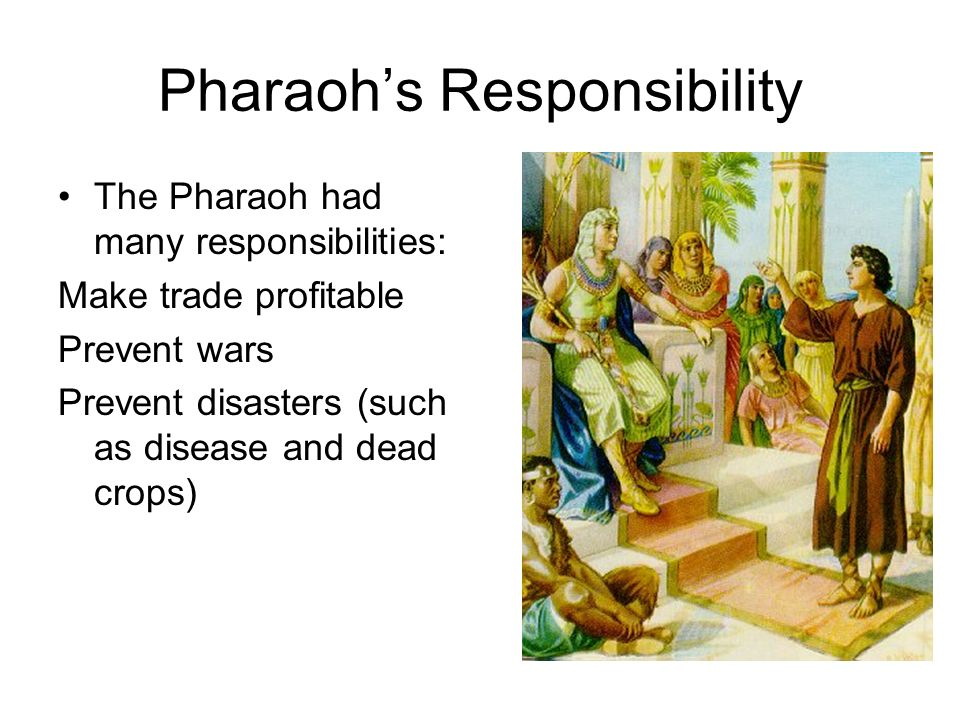 Responsibilities of a pharaoh