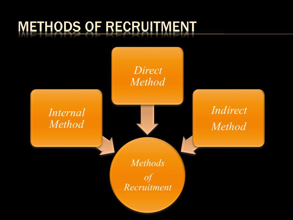 direct method of recruitment
