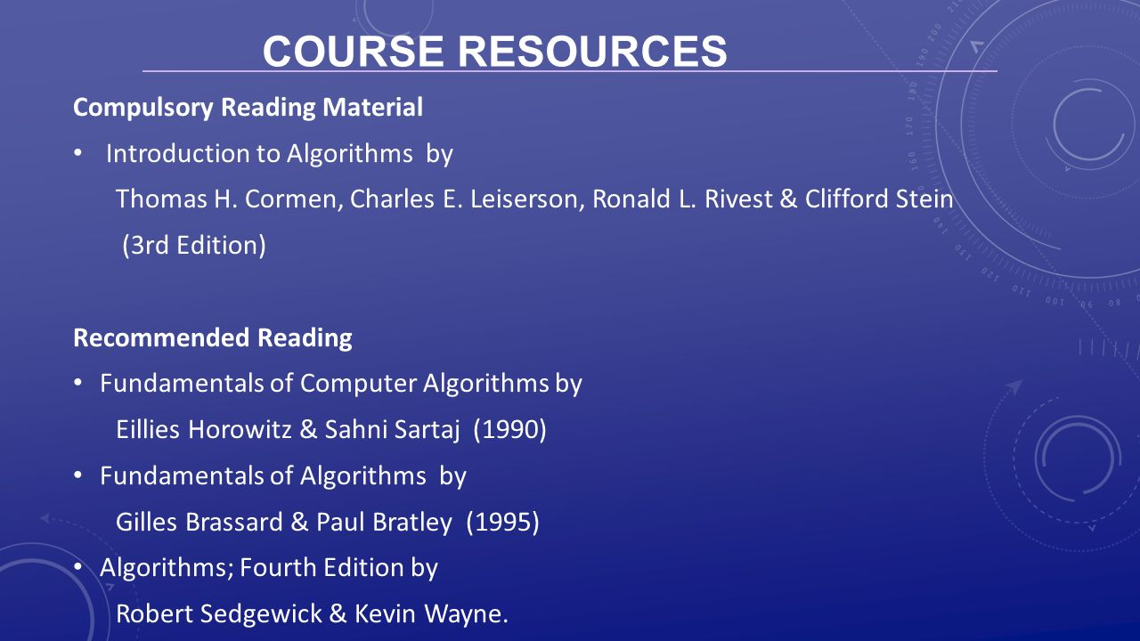 3 Course Resources Compulsory Reading Material