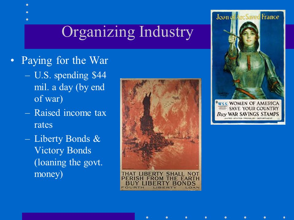 Organizing Industry Paying for the War