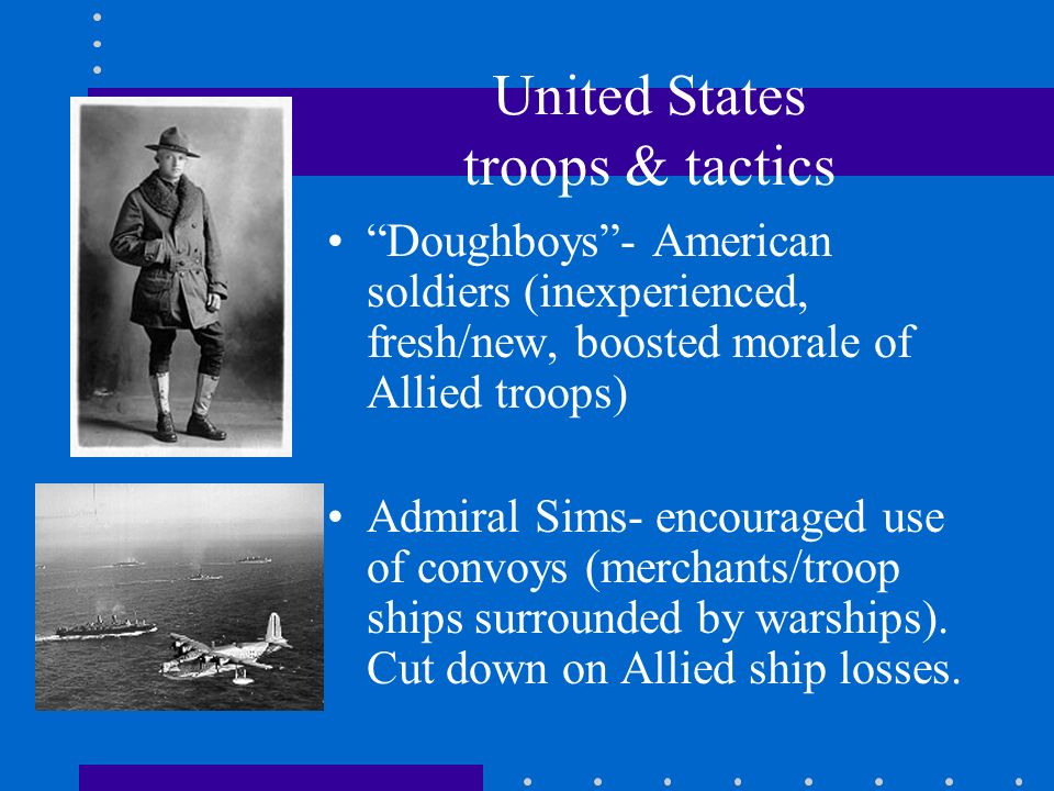 United States troops & tactics
