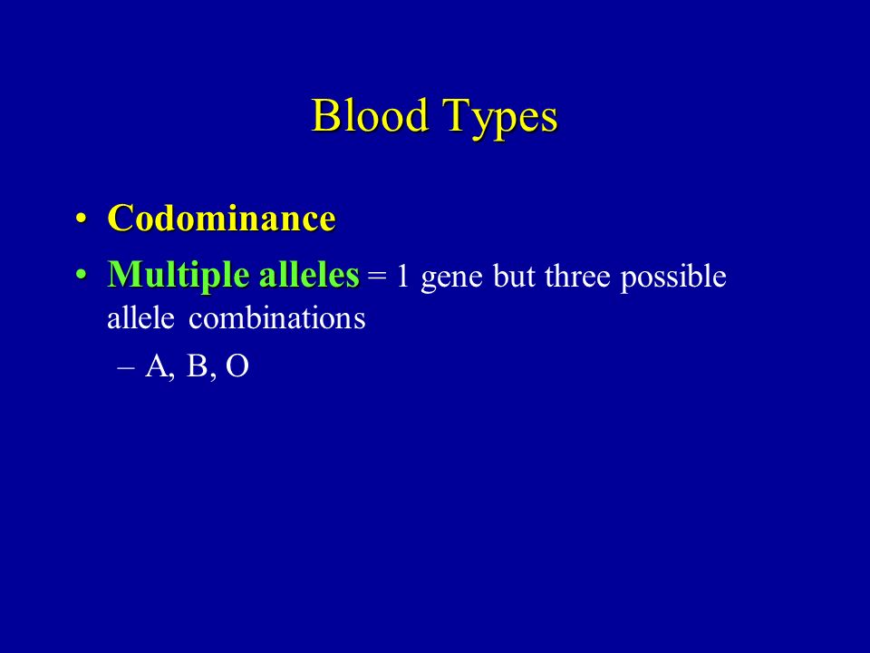 Blood Types Codominance