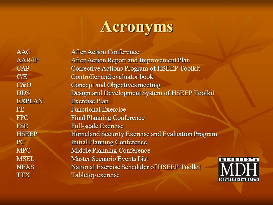 Acronyms AAC After Action Conference