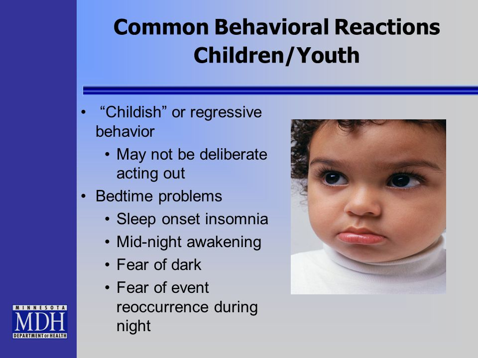 Common Behavioral Reactions Children/Youth