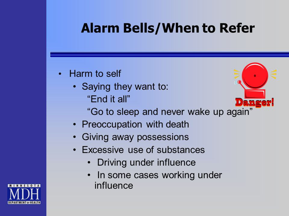 Alarm Bells/When to Refer