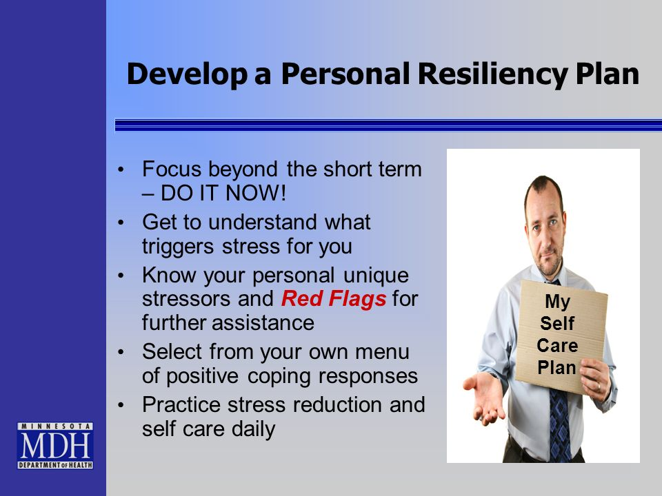 Develop a Personal Resiliency Plan