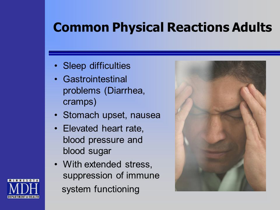 Common Physical Reactions Adults