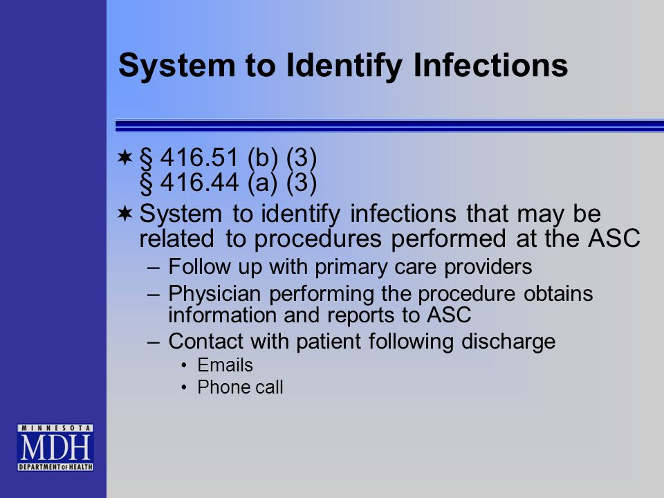 System to Identify Infections