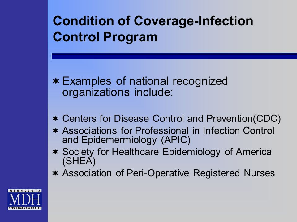Condition of Coverage-Infection Control Program