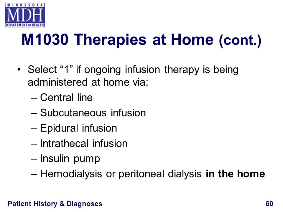 M1030 Therapies at Home (cont.)