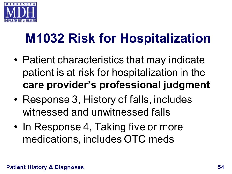 M1032 Risk for Hospitalization
