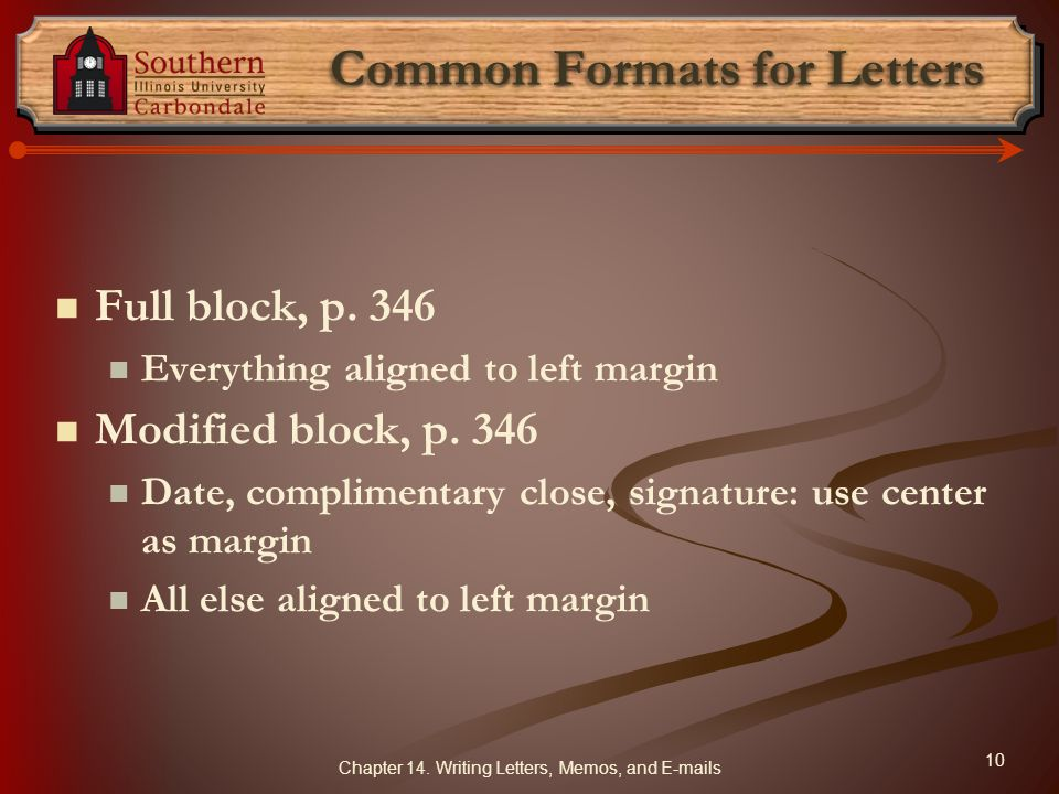 Common Formats for Letters