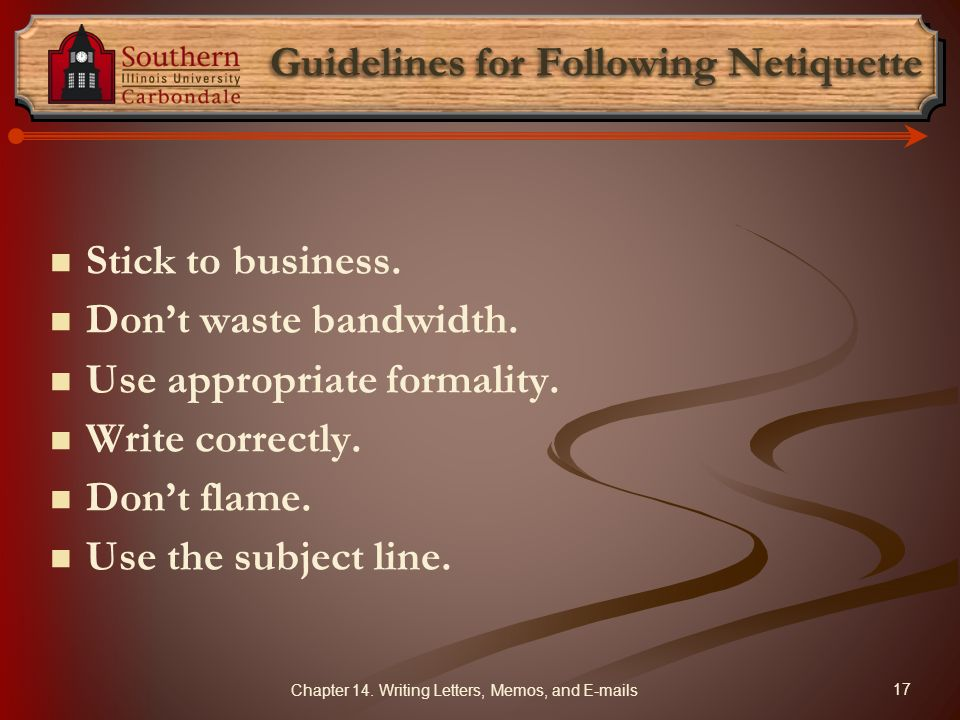 Guidelines for Following Netiquette