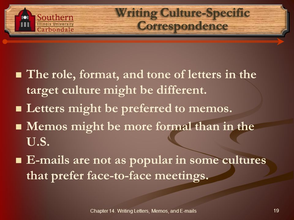Writing Culture-Specific Correspondence