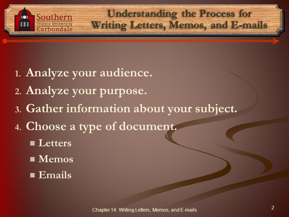 Understanding the Process for Writing Letters, Memos, and  s