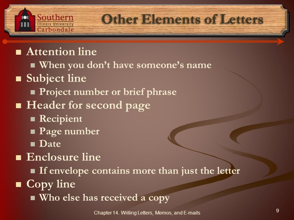 Other Elements of Letters