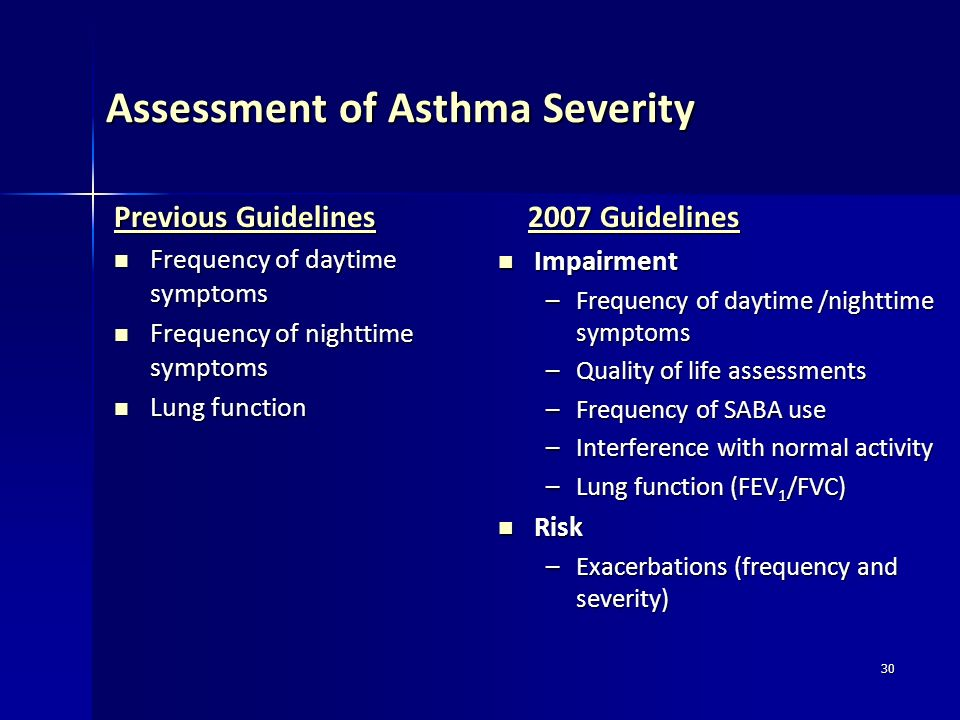 Assessment of Asthma Severity