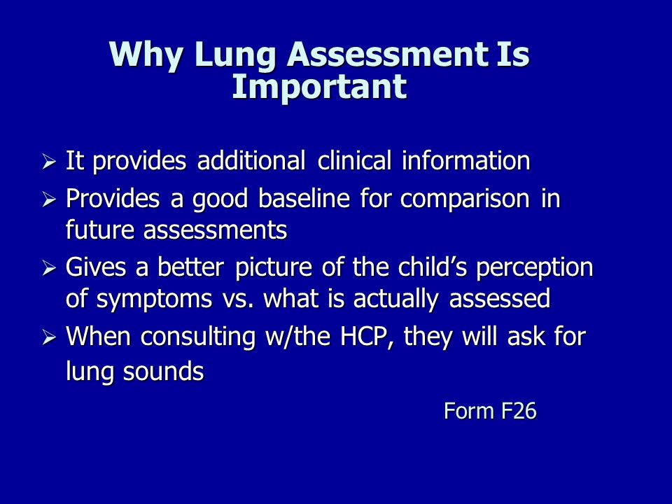 Why Lung Assessment Is Important