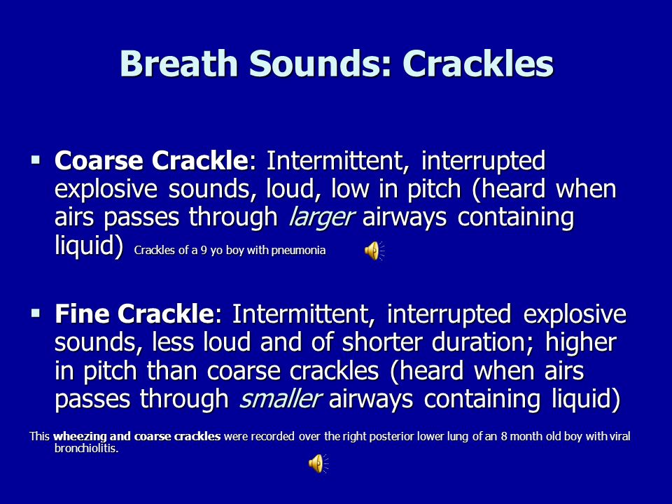 Breath Sounds: Crackles
