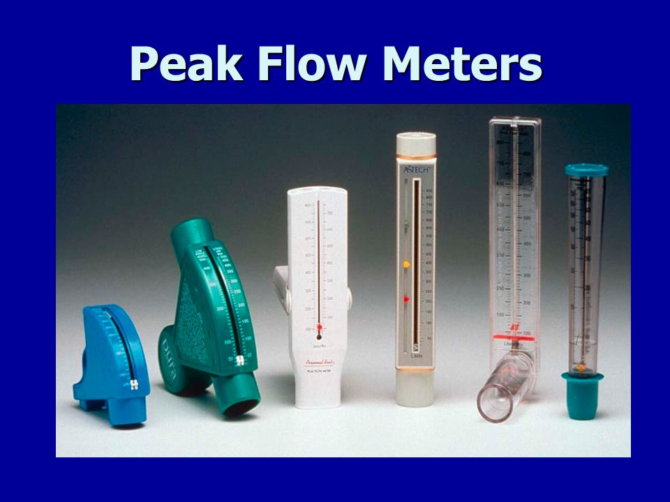 Peak Flow Meters Peak flow rates can be evaluated by anyone - as long as you receive training and are confident you can do it properly.