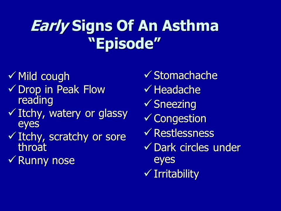 Early Signs Of An Asthma Episode