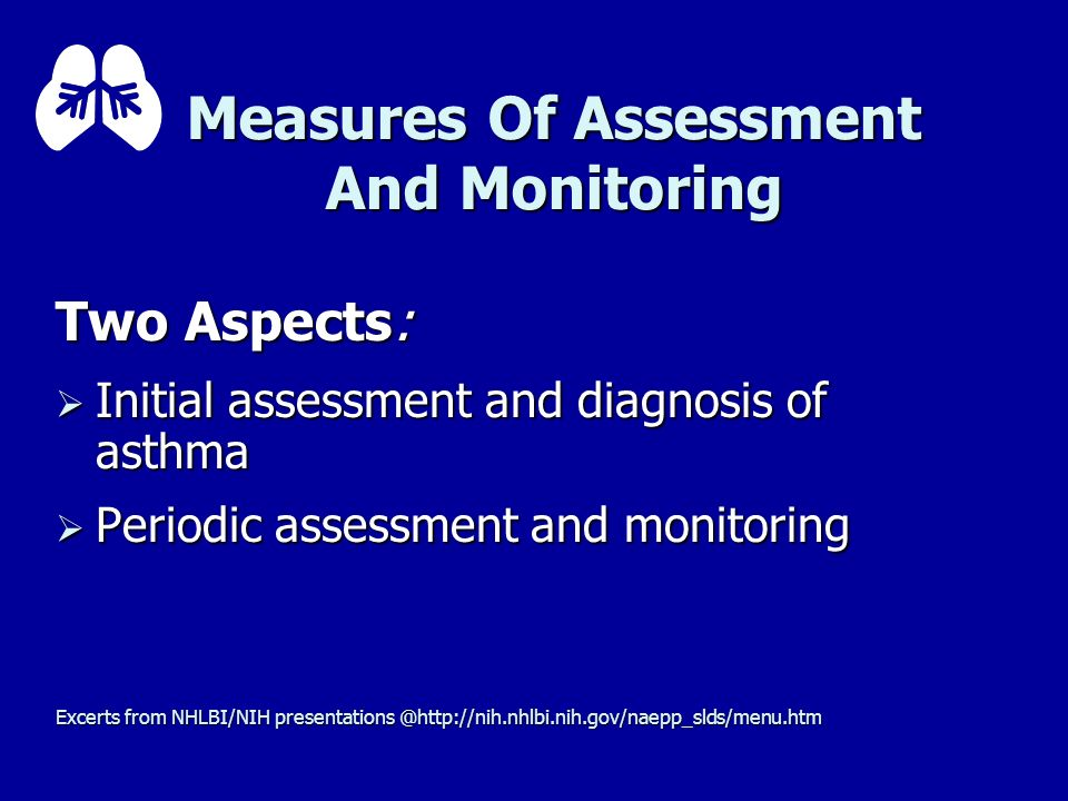 Measures Of Assessment And Monitoring
