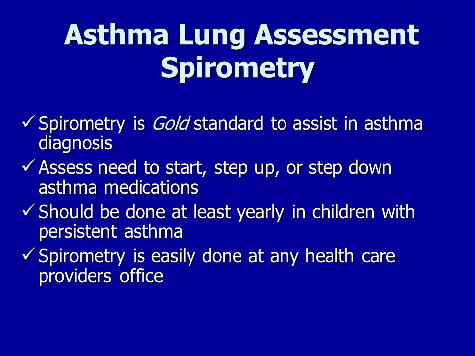 Asthma Lung Assessment Spirometry